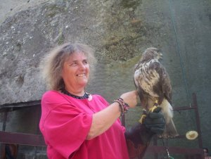 Jude, with a hungry bird of prey, in Hungary!