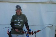 Lizzie Richley, at an archery competition.