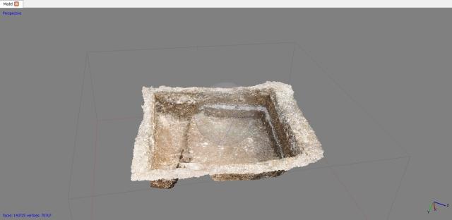 A photogrammetry model of Box 8A
