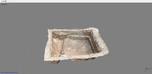 A photogrammetry model of Box 8A